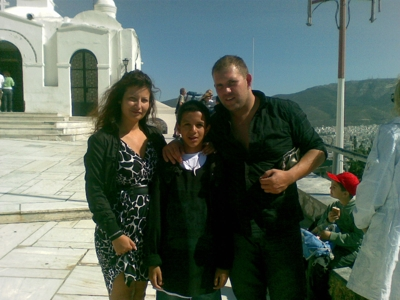 My sister, her hubby and my son