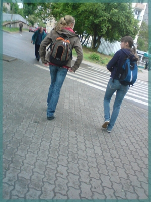 going to home... after school. ;)