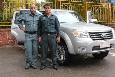 two Afghan officers