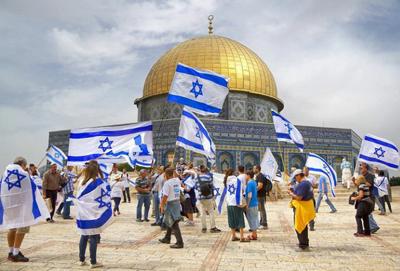 celebrations in Temple Mount Jerusalem