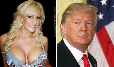 Donald Trump 'VEHEMENTLY DENIES' paying porn star £94,000 to 'keep hidden encounter quiet