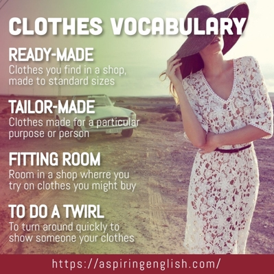 """""""Clothing Vocabulary"""""""