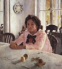 Russian impressionism. V. Serov. The girl with peatches.