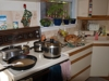 My kitchen, busy cooking the feast