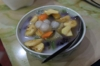 A kind of dessert which consists of many fruits is very popular in Vietnam.