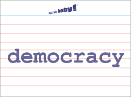 what does democracy mean What is democracy this does not mean, however, that any state which opts to carry out elections can be qualified as democratic right away.