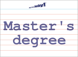 Master degree meaning
