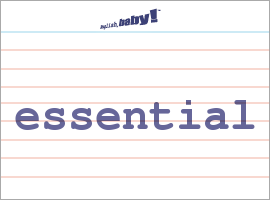 Vocabulary Word: essential