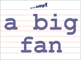 Vocabulary Word: a big fan