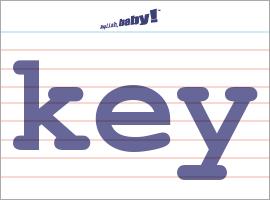 Vocabulary Word: key