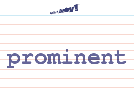 prominent definition