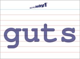 Vocabulary Word: guts