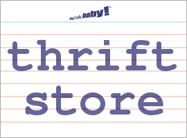 Vocabulary Word: thrift store