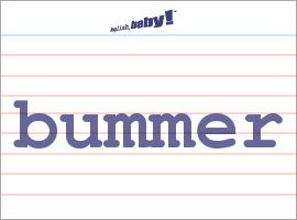 Vocabulary Word: bummer