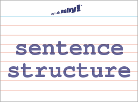 sentance structure