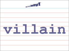 what does villain mean