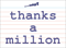 Vocabulary Word: thanks-a-million